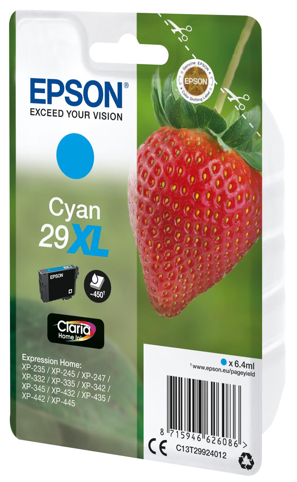 T2992 inkjetcartridge 29XL cyaan (450 afdrukken)