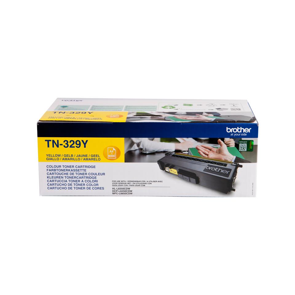 TN-329Y toner geel (6.000 afdrukken)