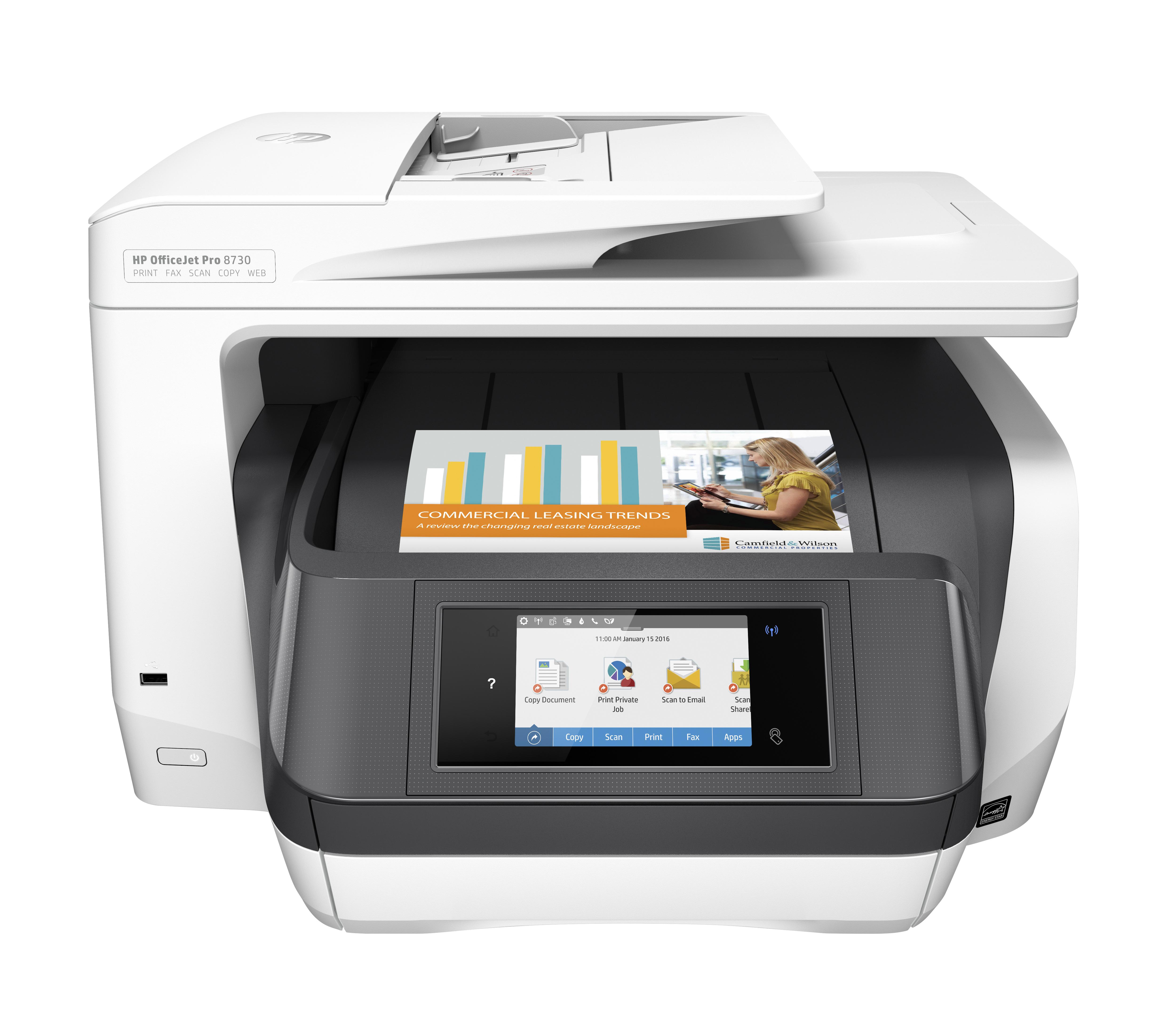 Officejet Pro 8730 (24 ppm, 1200 dpi, A4)