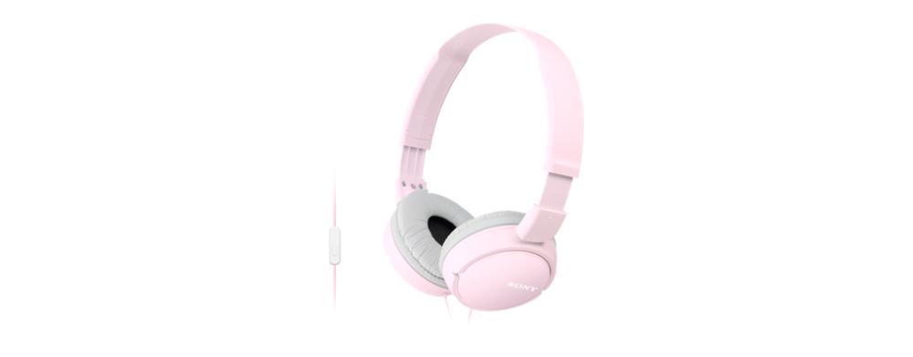 MDR-ZX110AP Headphones (met micro, full size, roze)