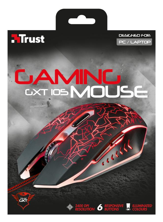 GXT 105 Izza Illuminated Gaming Mouse (6 knoppen, USB)