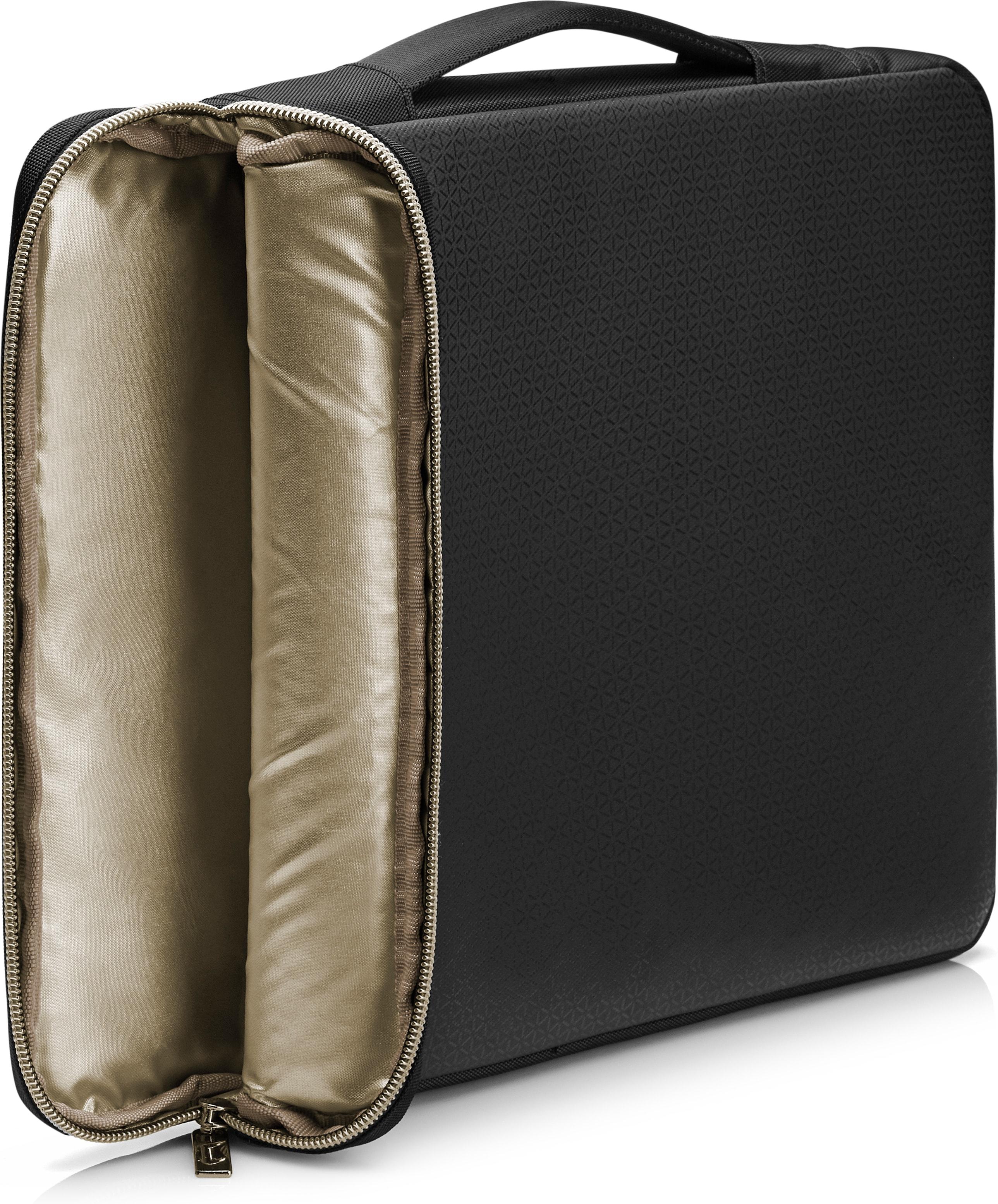 """Carry Sleeve (17,3"""", zwart/goud)"""