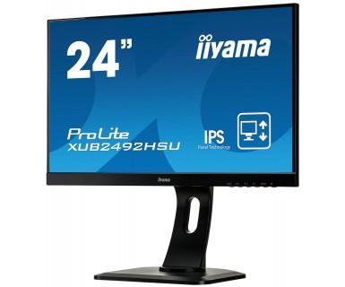 """ProLite XUB2492HSU-B1 LED 24"""", 1920 x 1080, IPS, 1000:1, 5 ms, HDMI, VGA, DisplayPort, speakers, zwart"""