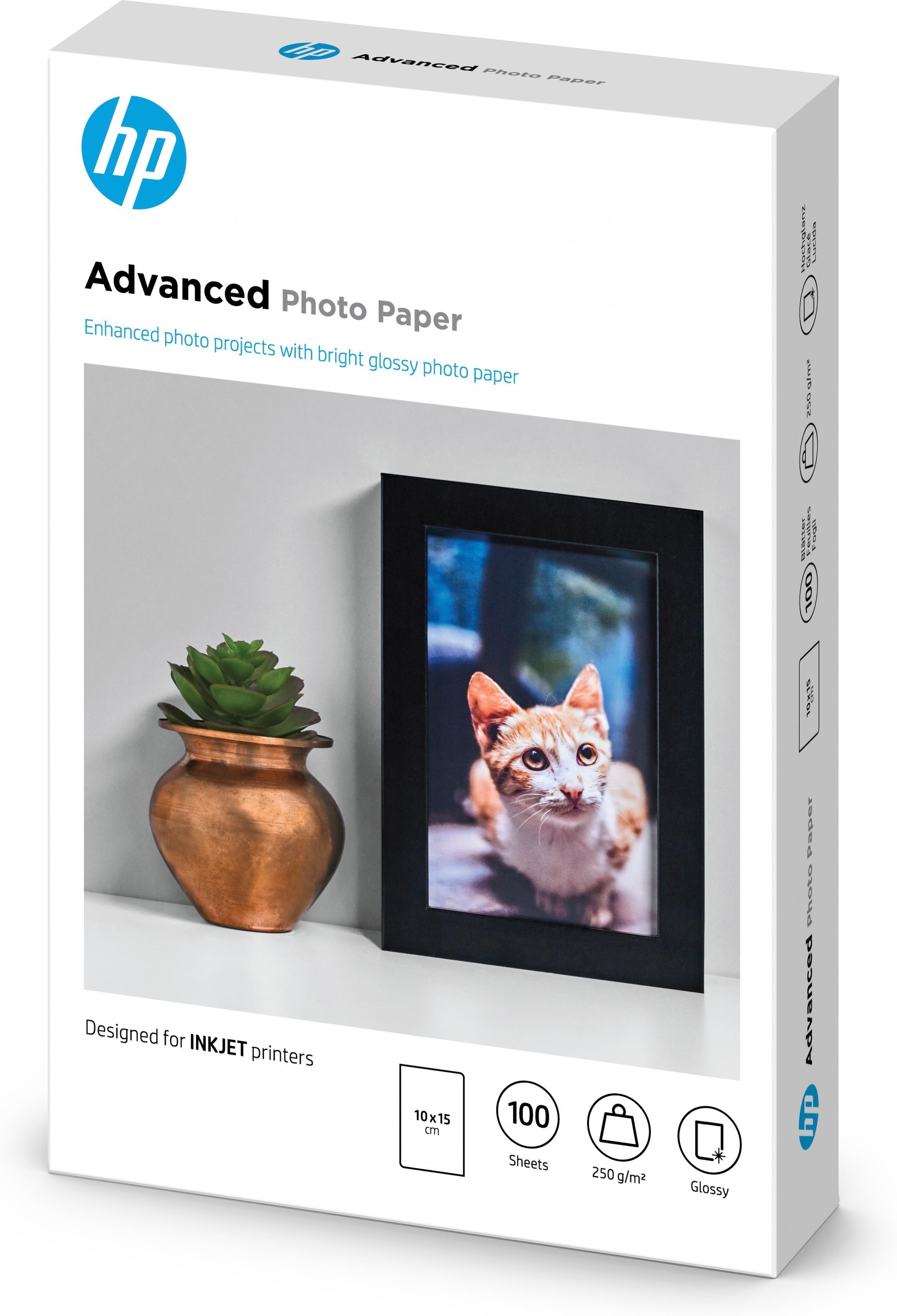 Q8692A Advanced Photo Paper Glossy (10 x 15 cm, 100 vellen, 250 g/m²)