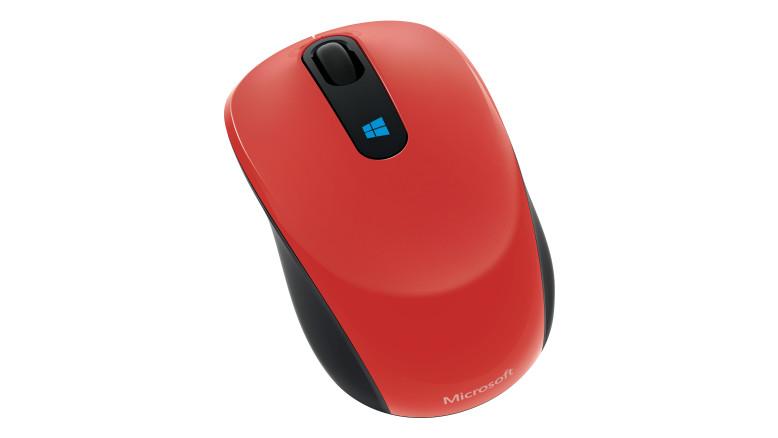 Sculpt Mobile Mouse (rood)