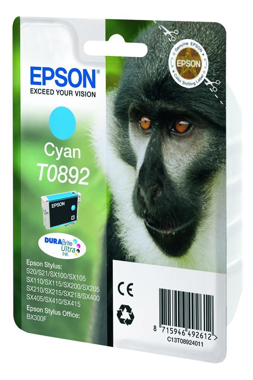 T0892 inkjetcartridge cyaan