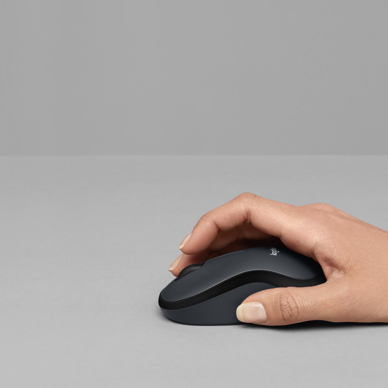 M220 Silent Mouse (USB wireless receiver, grijs)