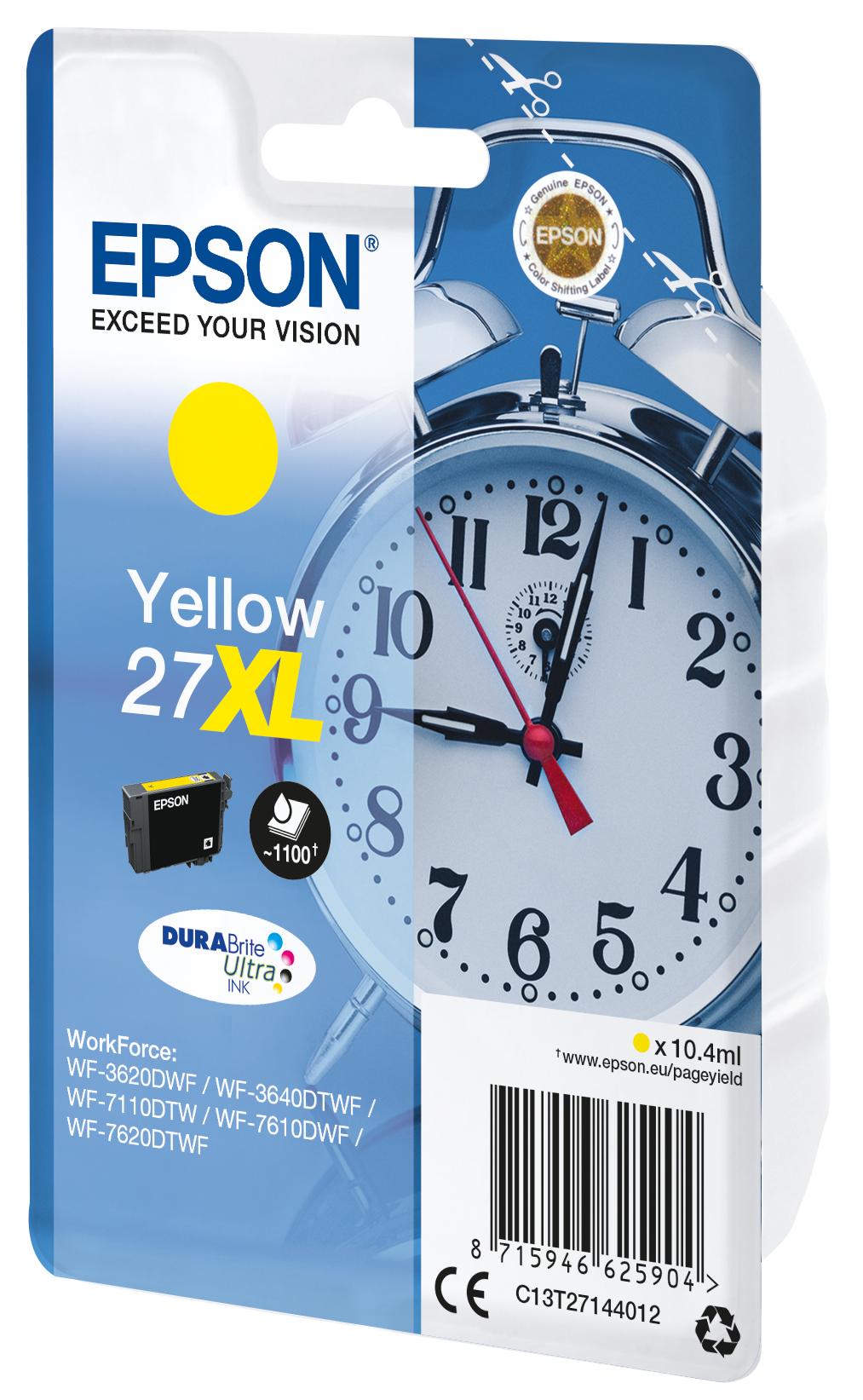 T2714 inkjetcartridge 27XL geel (1.100 afdrukken)