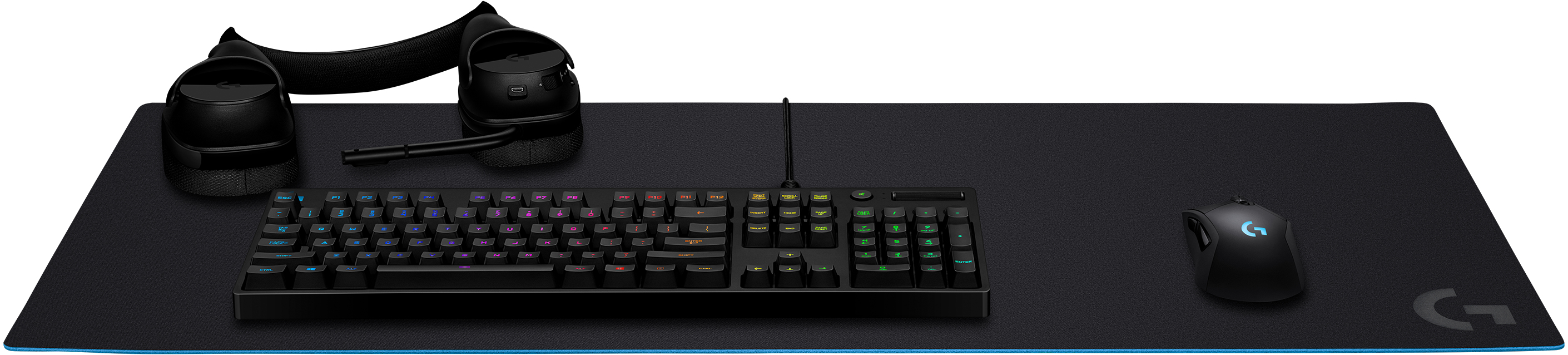 G840 XL Gaming Mouse Pad (400 x 900 x 3 mm, rubber, zwart)