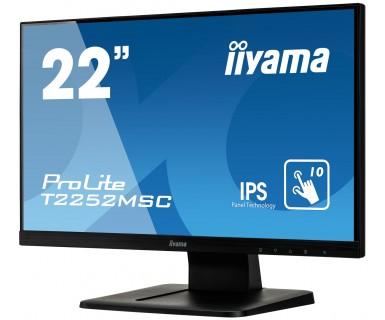"ProLite T2252MSC-B1 LED 22"", touchscreen, 1920 x 1080, IPS, 7 ms, HDMI, VGA, DisplayPort, speakers, zwart"