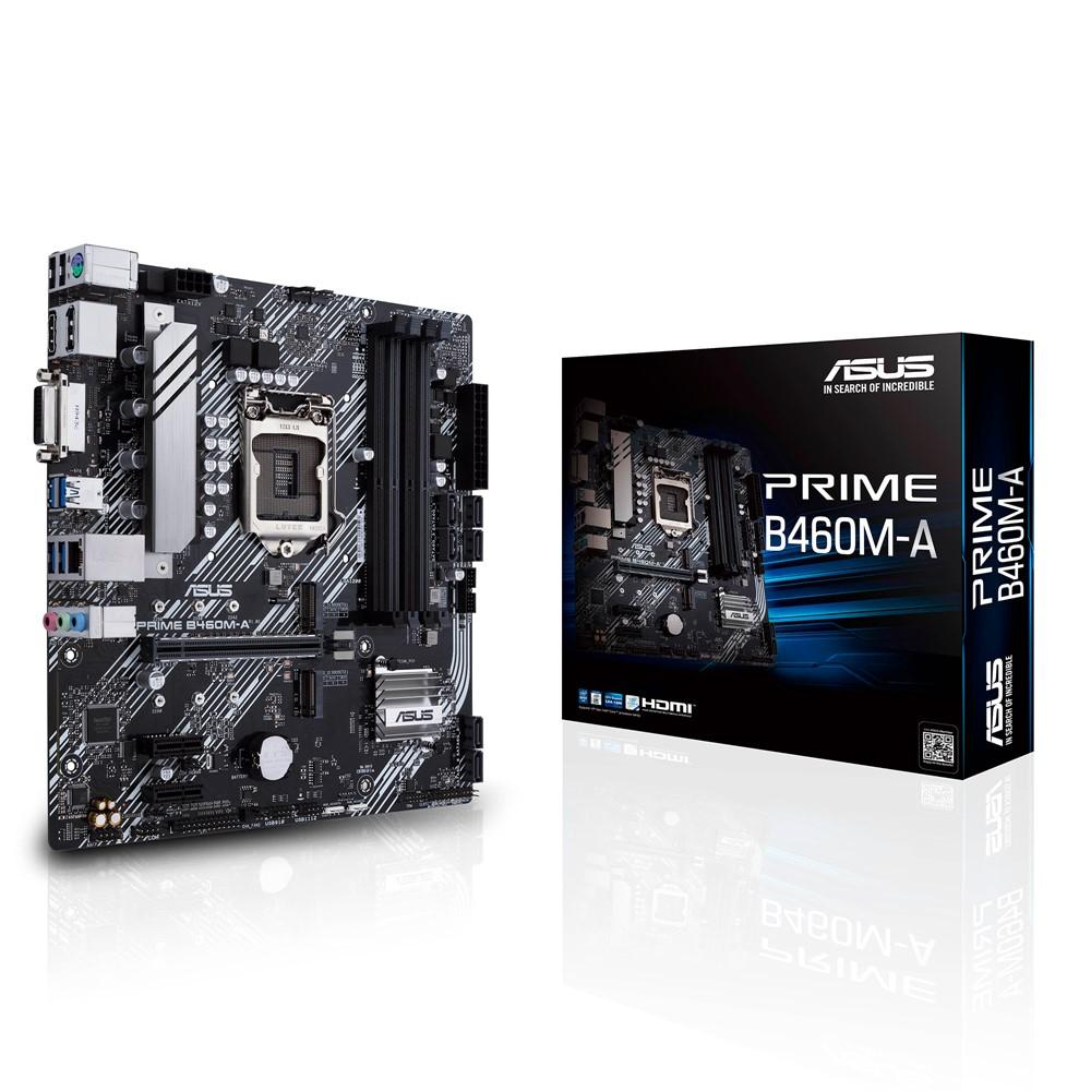 Socket 1200 : PRIME B460M-A (micro ATX, B460 Chipset, USB 3.2 Gen 1, Gigabit LAN, onboard graphics, HD Audio 8-channel)