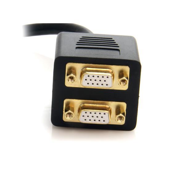 DVI-splitter : DVI-I naar 2 x VGA M/F