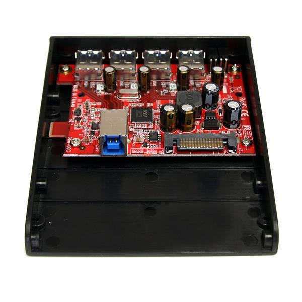 """USB 3.0 Front Panel 4 Poort Hub (3,5"""" naar 5,25"""" bay)"""