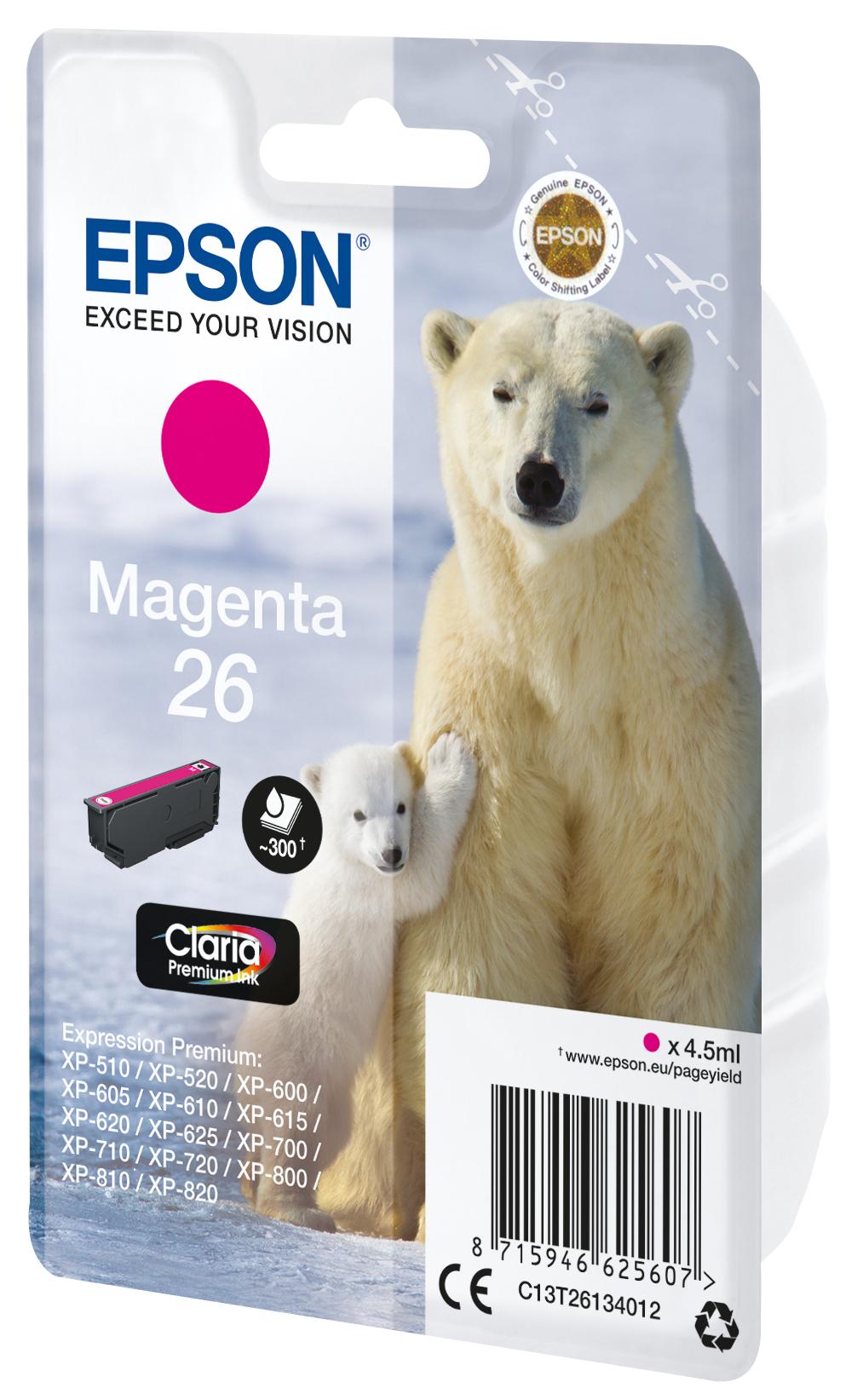 T2613 inkjetcartridge 26 magenta (300 afdrukken)