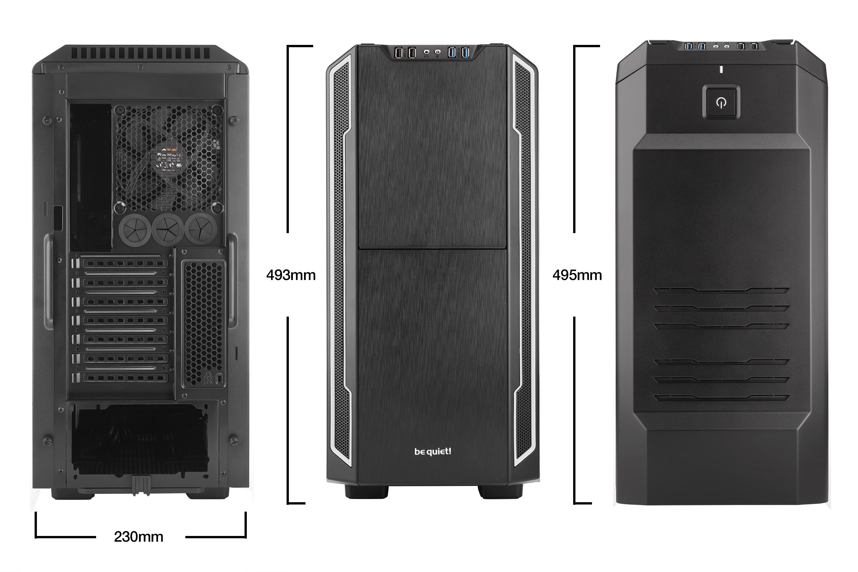 Silent Base 600 High End Case (zwart/zilver)