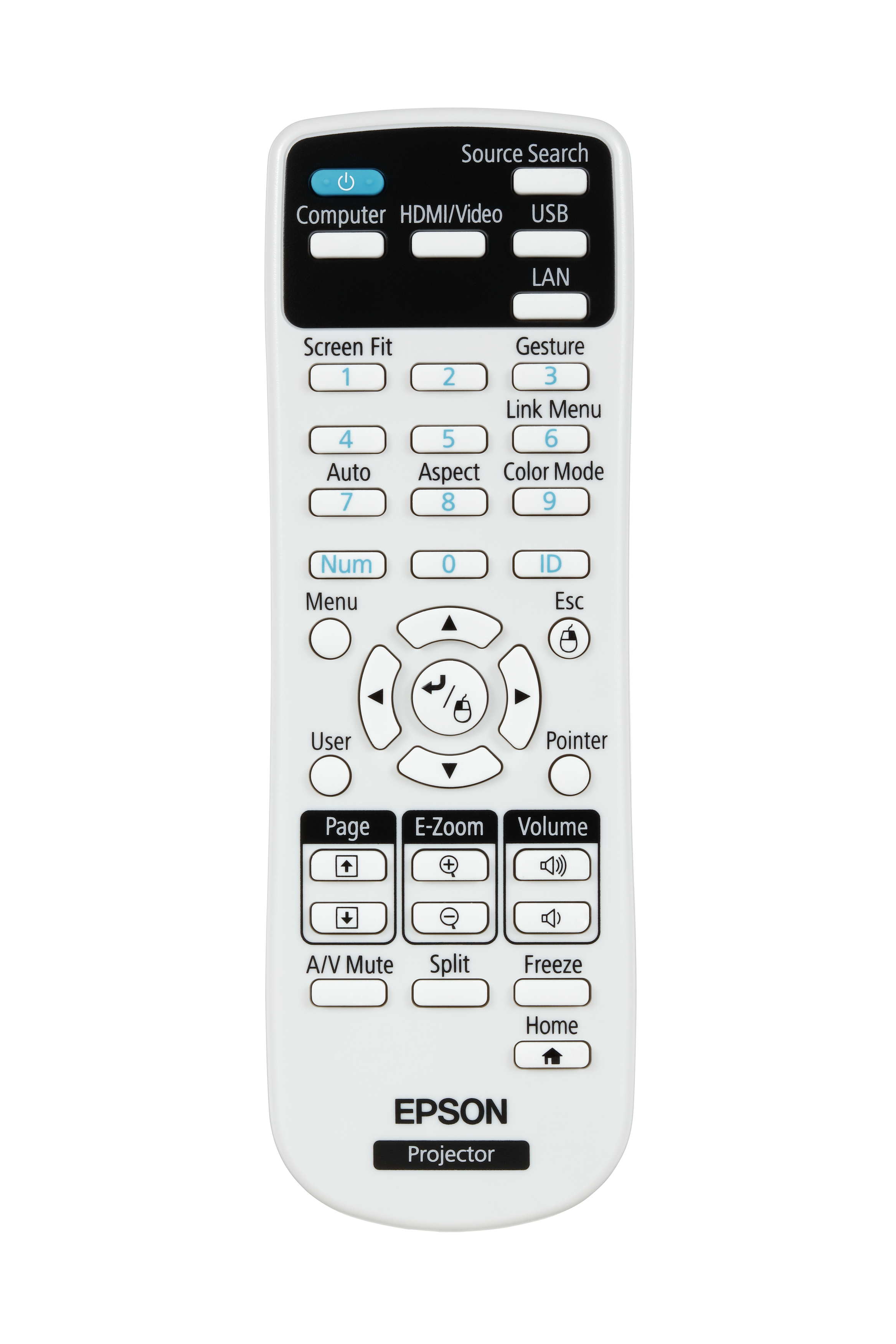 EB-2265U LCD projector (5500 lumens, WUXGA 1920 x 1200, 16:10, HD 1080p, 802.11n wireless, LAN, Miracast)