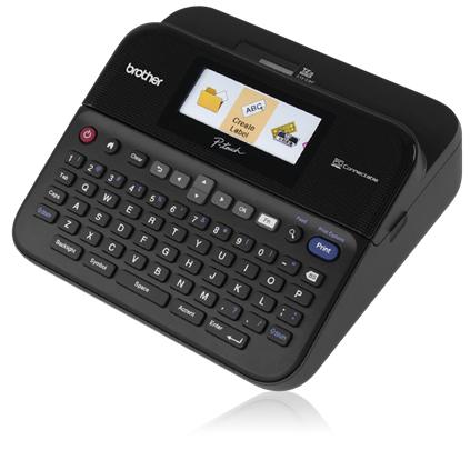 P-Touch PT-D600VP Labelmaker (monochrome, thermal transfer, 2,4 cm, tot 30 mm/sec, USB)