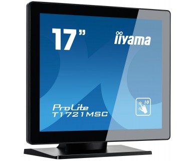 "ProLite T1721MSC-B1 LED 17"", touchscreen, 1280 x 1024, TN, 1000:1, 5 ms, DVI-D, VGA, speakers, zwart"