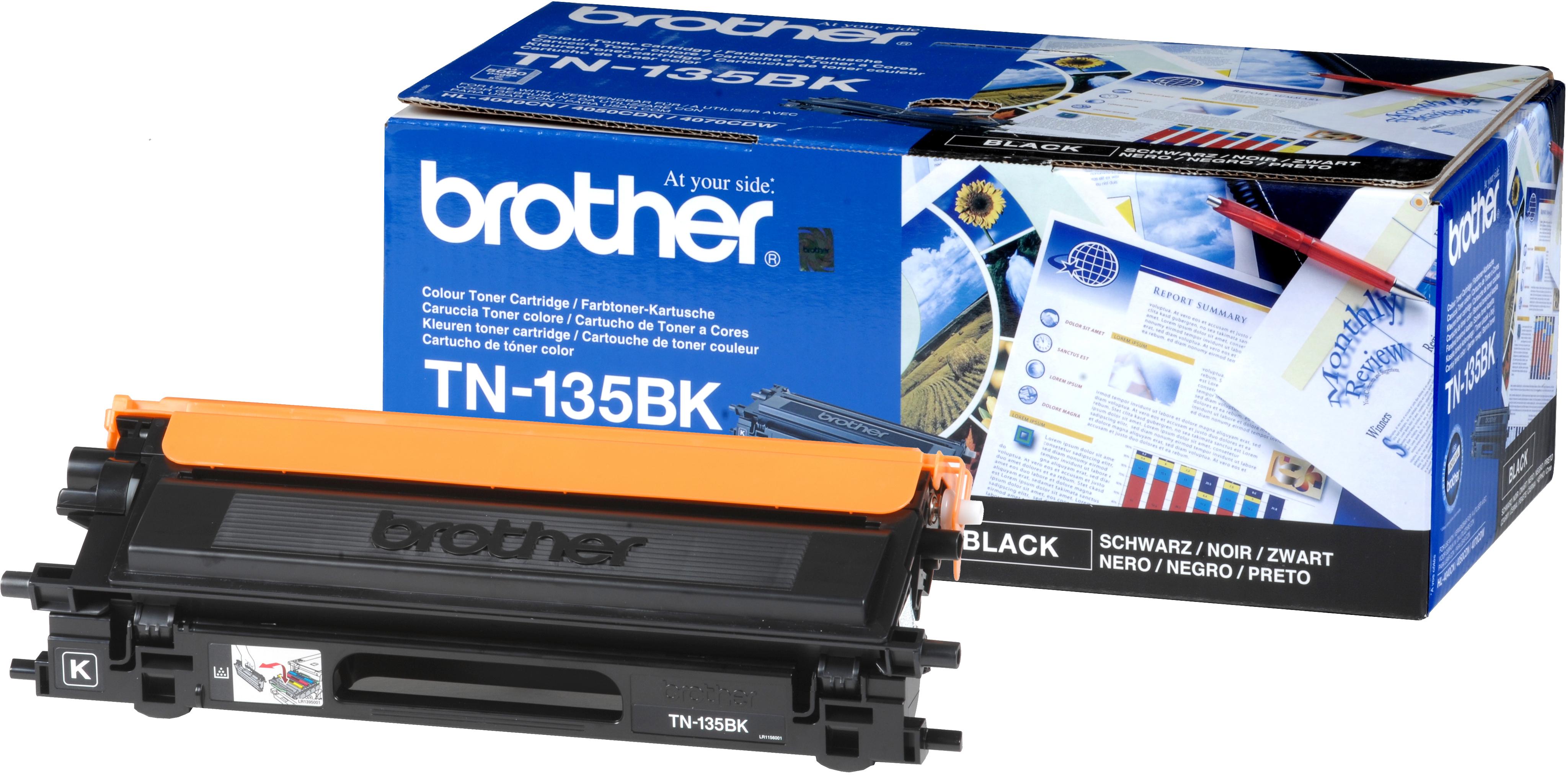 TN-135BK toner zwart (5000 afdrukken)