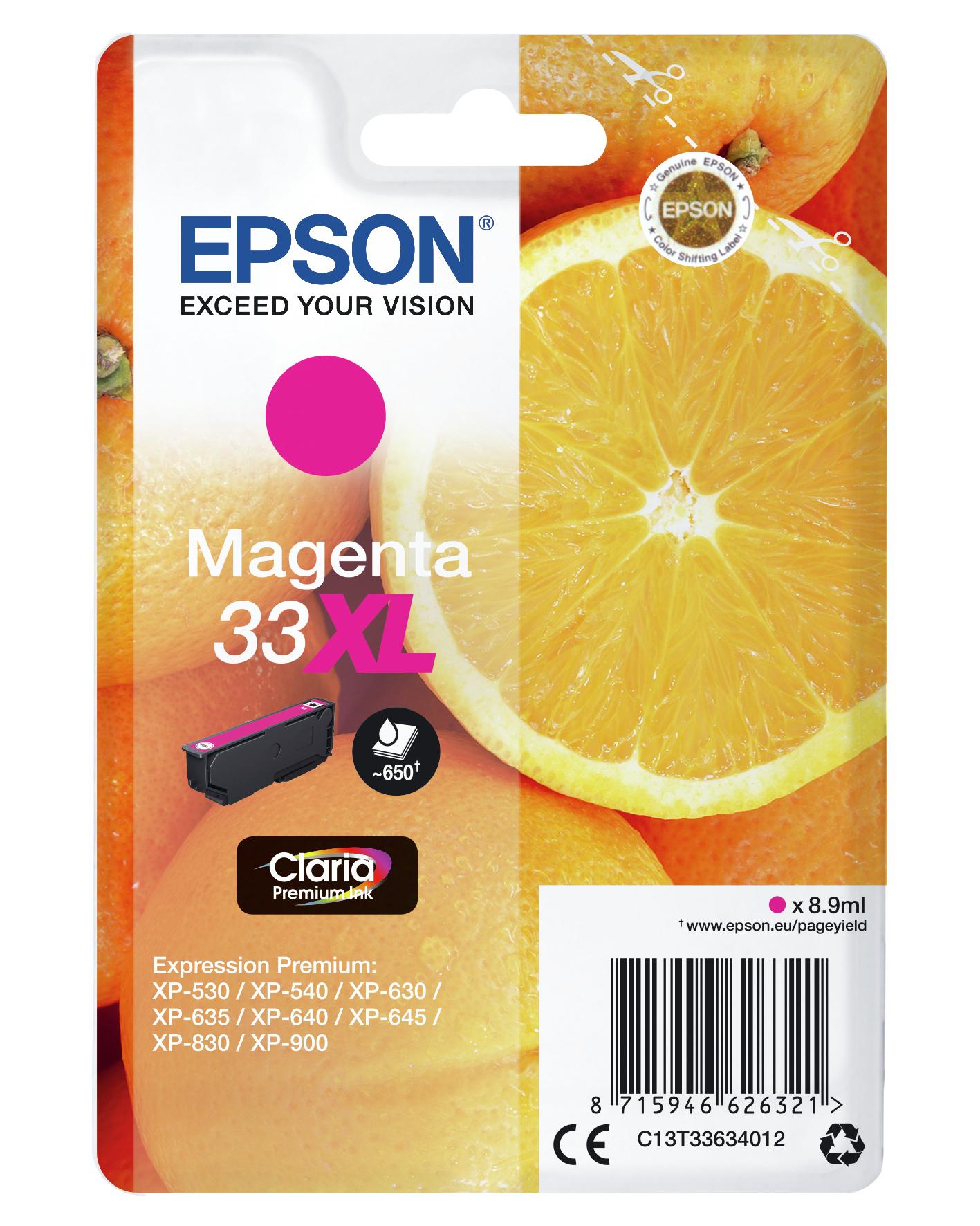 T13363 inkjetcartridge 33XL magenta (650 afdrukken)