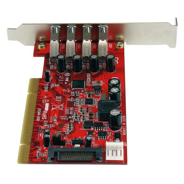 PCI SuperSpeed USB 3.0 Adapter (met SATA/SP4 voeding)