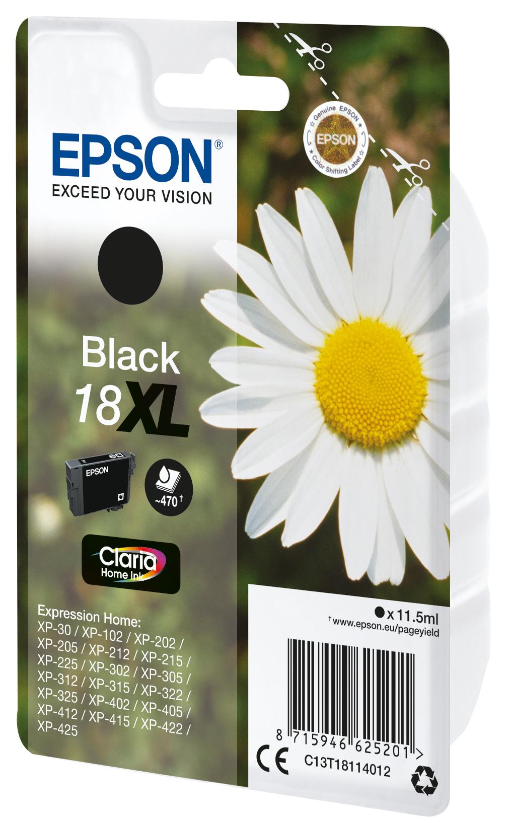 T1811 inkjetcartridge 18XL zwart (470 afdrukken)