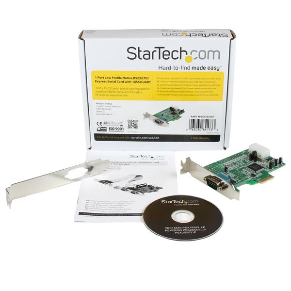 PCI Express RS232 Serial Adapter (16550 UART, low profile)