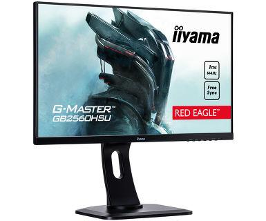 """G-MASTER Red Eagle GB2560HSU-B1 LED 24,5"""", 1920 x 1080 Full HD, TN, 1000:1, 1 ms, HDMI, DisplayPort, speakers, zwart"""