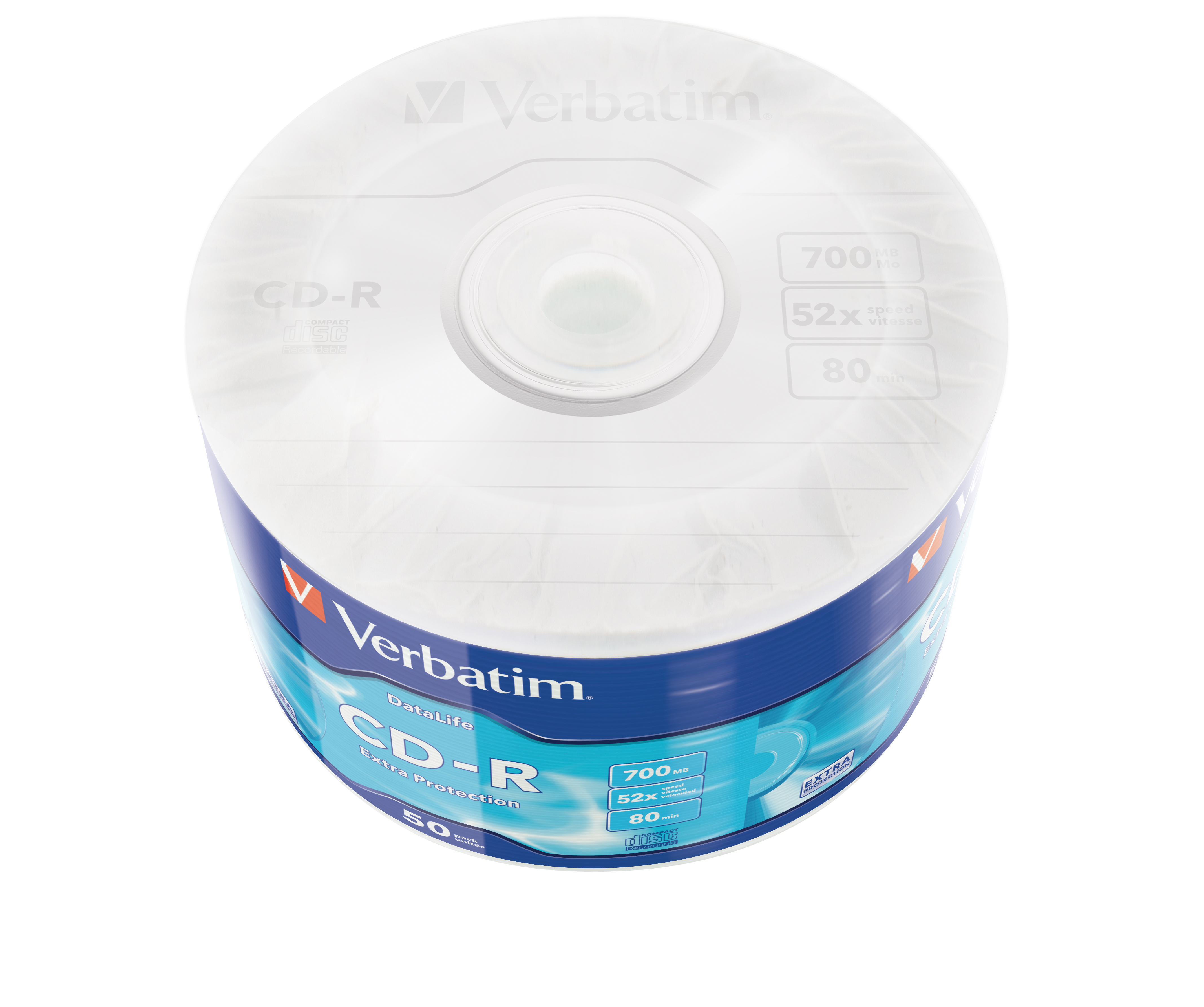 DataLife Extra Protection 50 x CD-R (700 MB, 80 min, 52 speed, wit, 50-spindel)