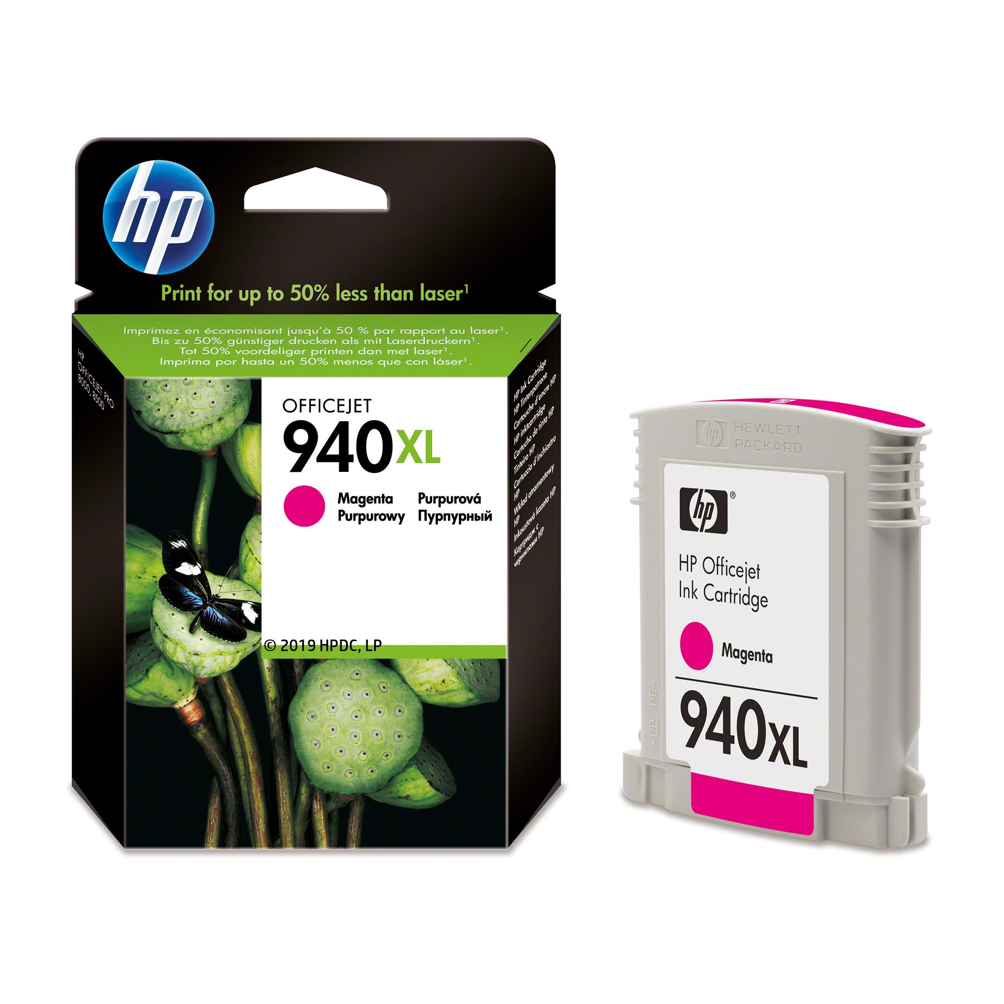 C4908AE inkjetcartridge magenta nr. 940XL (1400 afdrukken)
