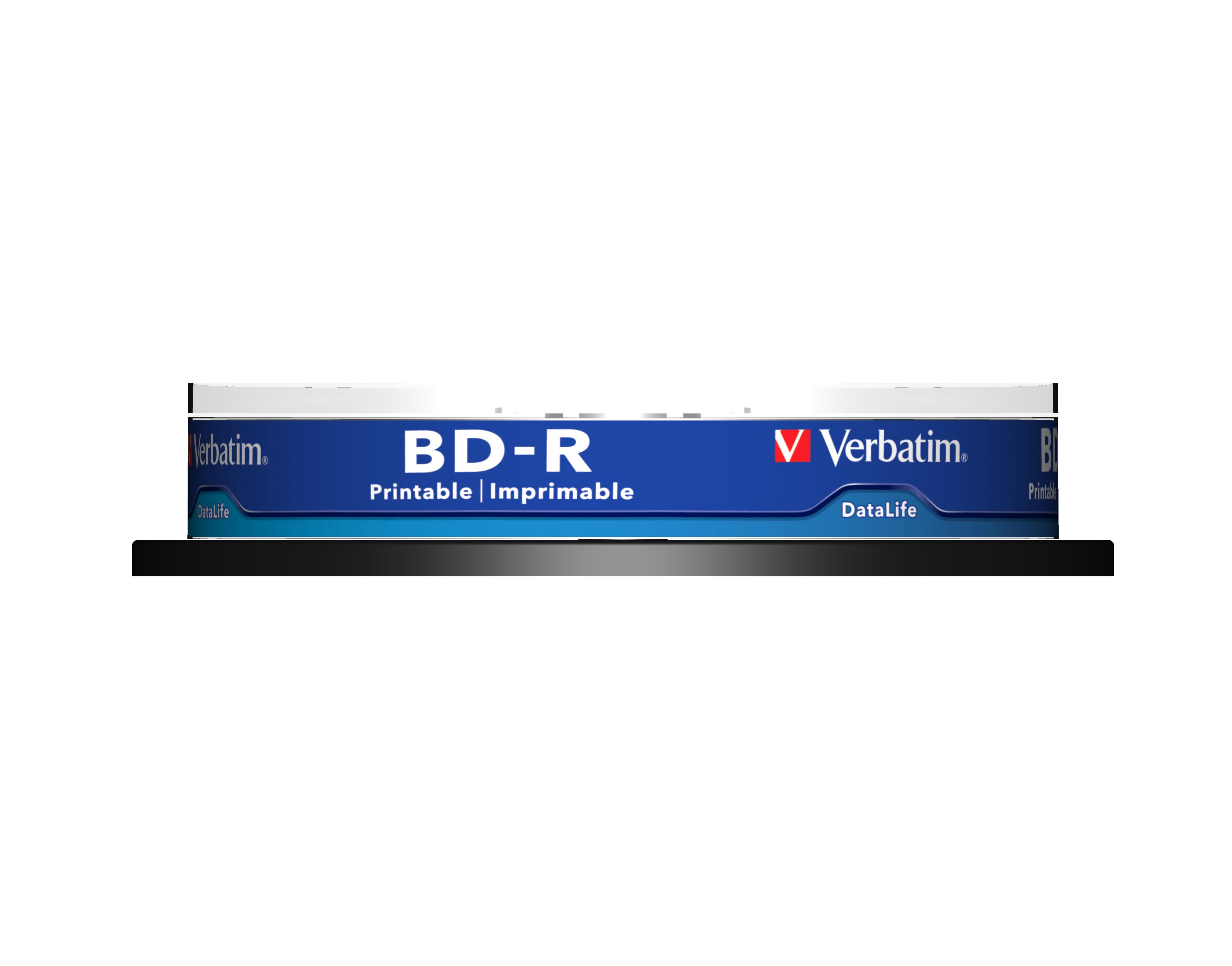 BD-R Single Layer 25 GB, 6 speed (wide printable, geen ID, 10-pack spindel)