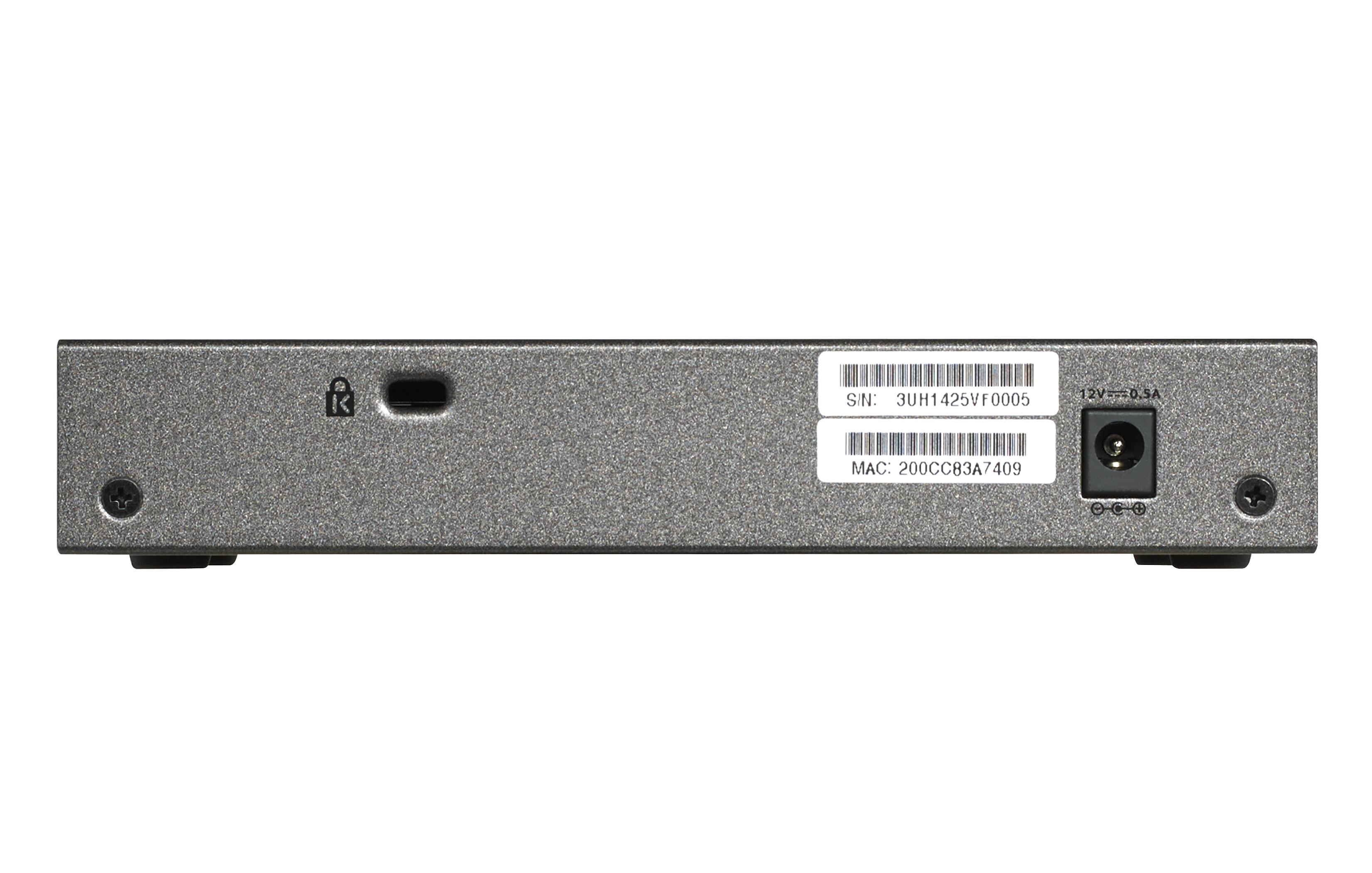 ProSafe Plus GS108Ev3 Switch (8 poorten, 10/100/1000, desktop, wall-mountable)