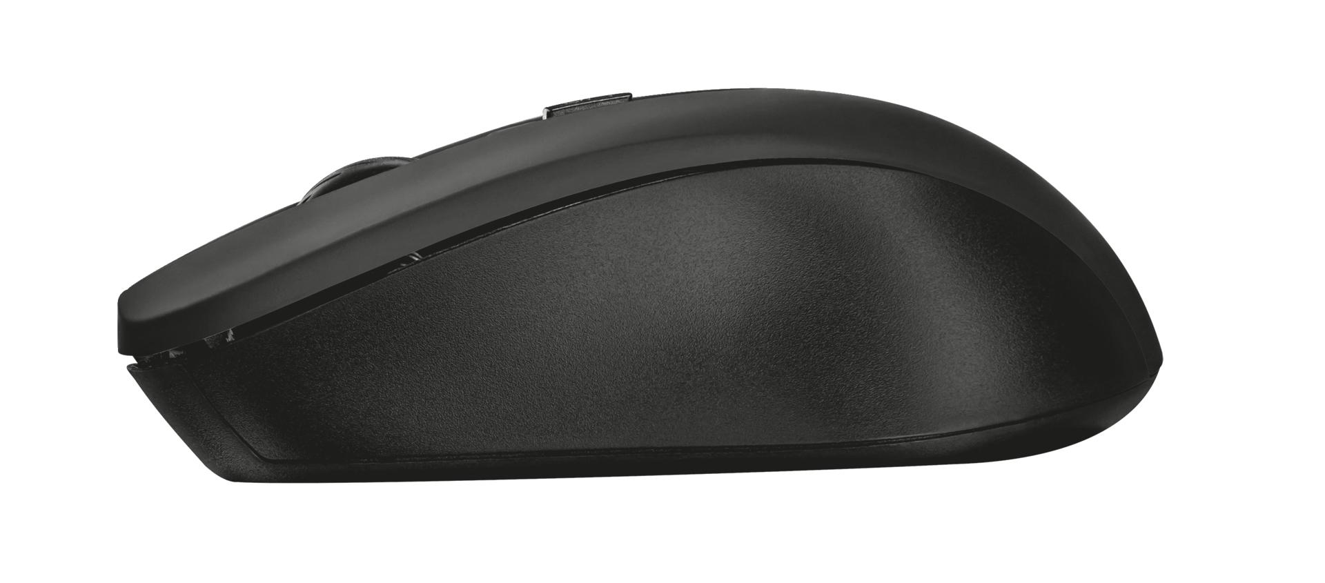 Silent Click Mydo Mouse (4 knoppen, zwart)