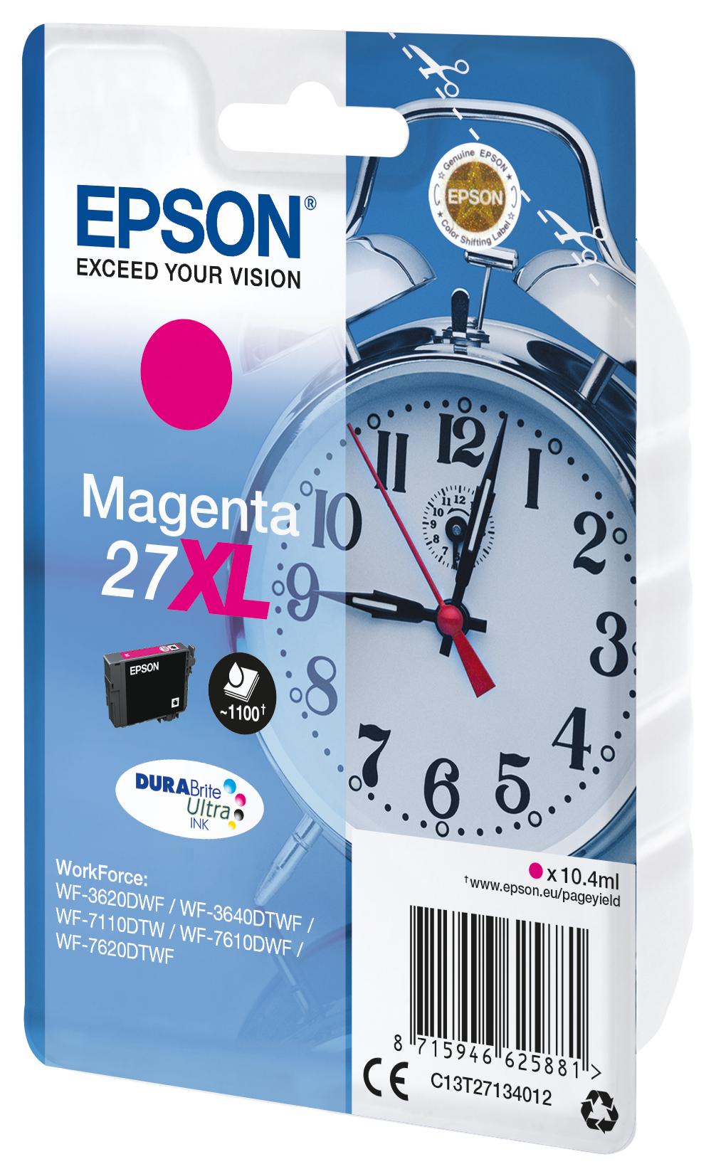 T2713 inkjetcartridge 27XL magenta (1.100 afdrukken)