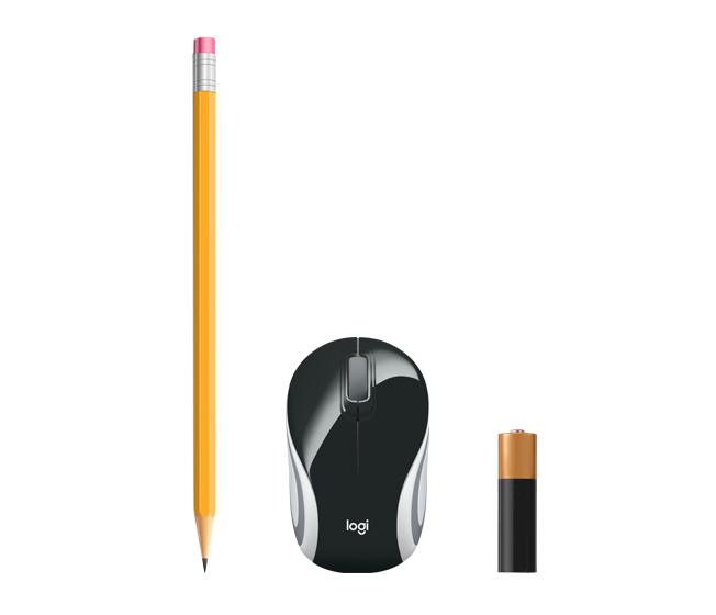 M187 Wireless Mini Mouse (zwart)