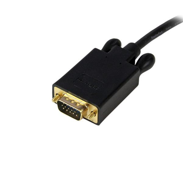 DisplayPort naar VGA Adapter Converter kabel (3 meter, zwart)