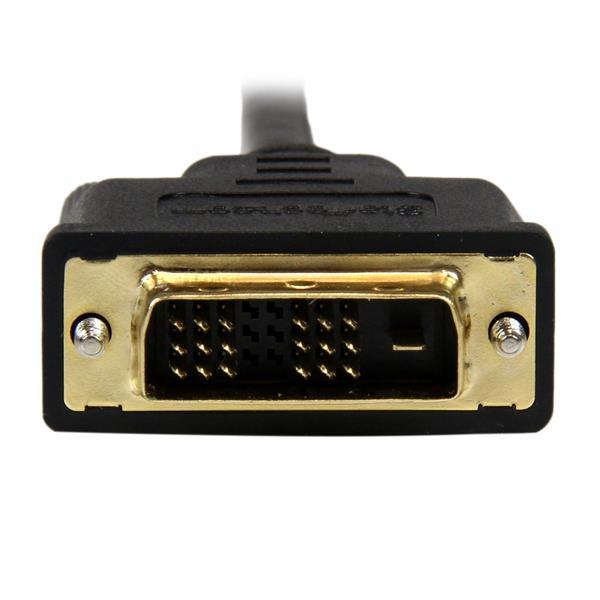 Mini HDMI naar DVI-D kabel M M (1 meter, zwart)