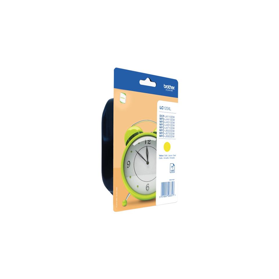 LC125XLY inkjetcartridges (geel, 1200 afdrukken)