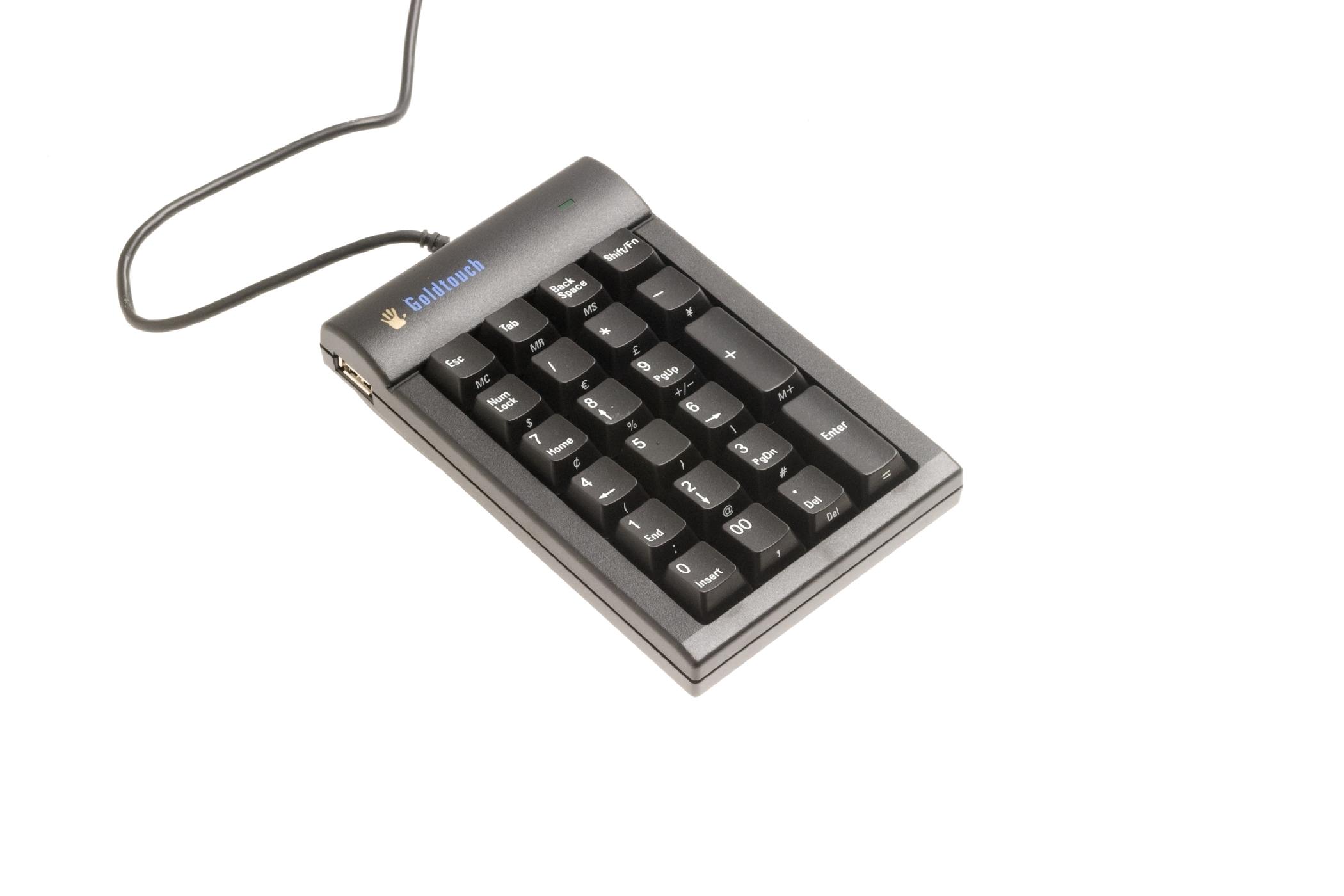 Goldtouch Numeric Keypad (USB, zwart)