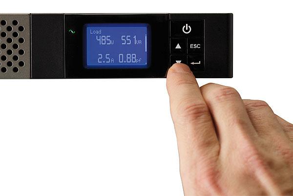 5P850iR UPS (rack-mountable, AC 160 - 290 Volt, 600 Watt, 850 VA, RS-232, USB, 4 output connectors, 1U)