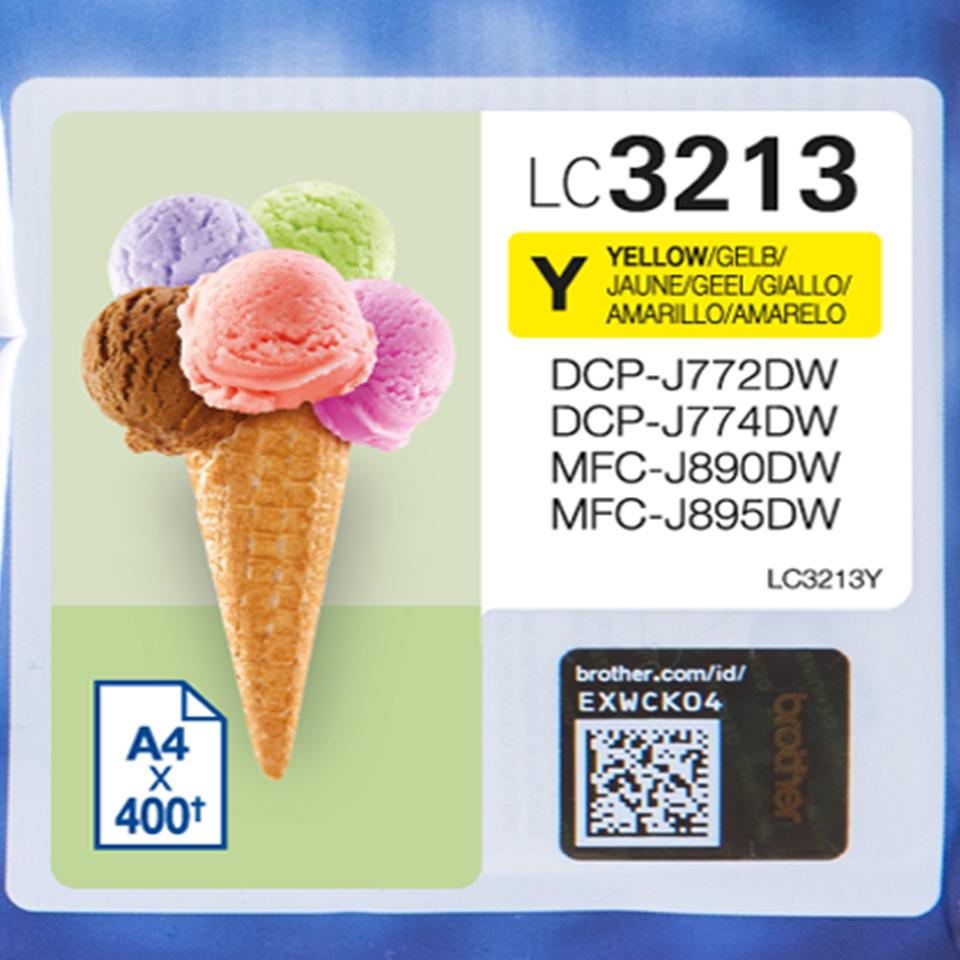 LC3213Y inkjetcartridge geel (400 afdrukken)