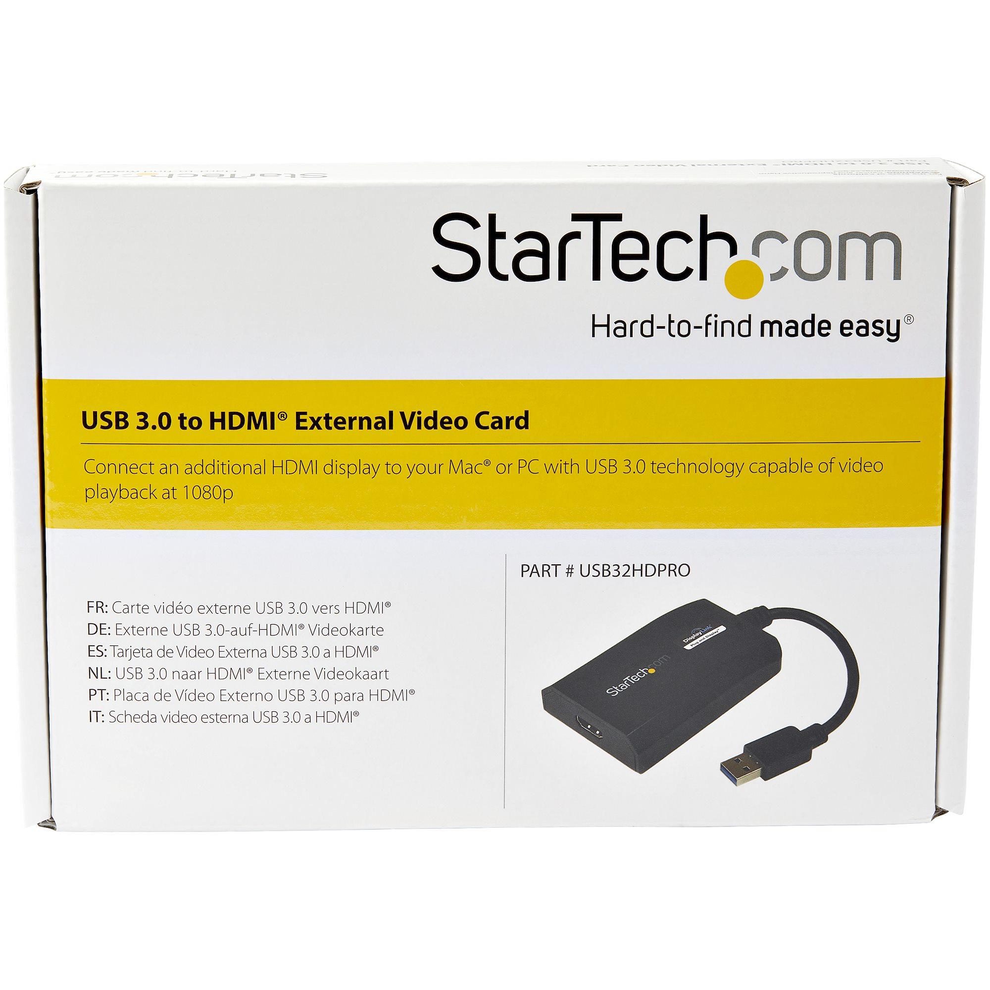 USB 3.0 naar HDMI External Multi Monitor Video Graphics Adapter (HD 1080p)