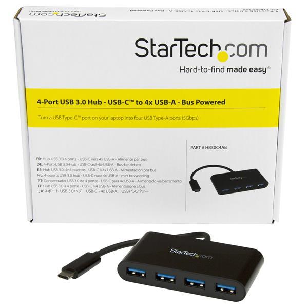 4-Poort USB 3.0 Hub (USB-C naar 4 x USB-A)