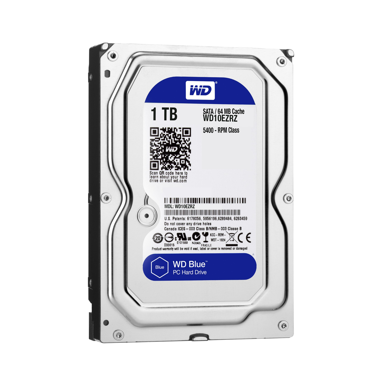 1000 GB WD10EZRZ Hard drive (SATA 6 Gb/s, 5400 rpm, 64 MB cache)