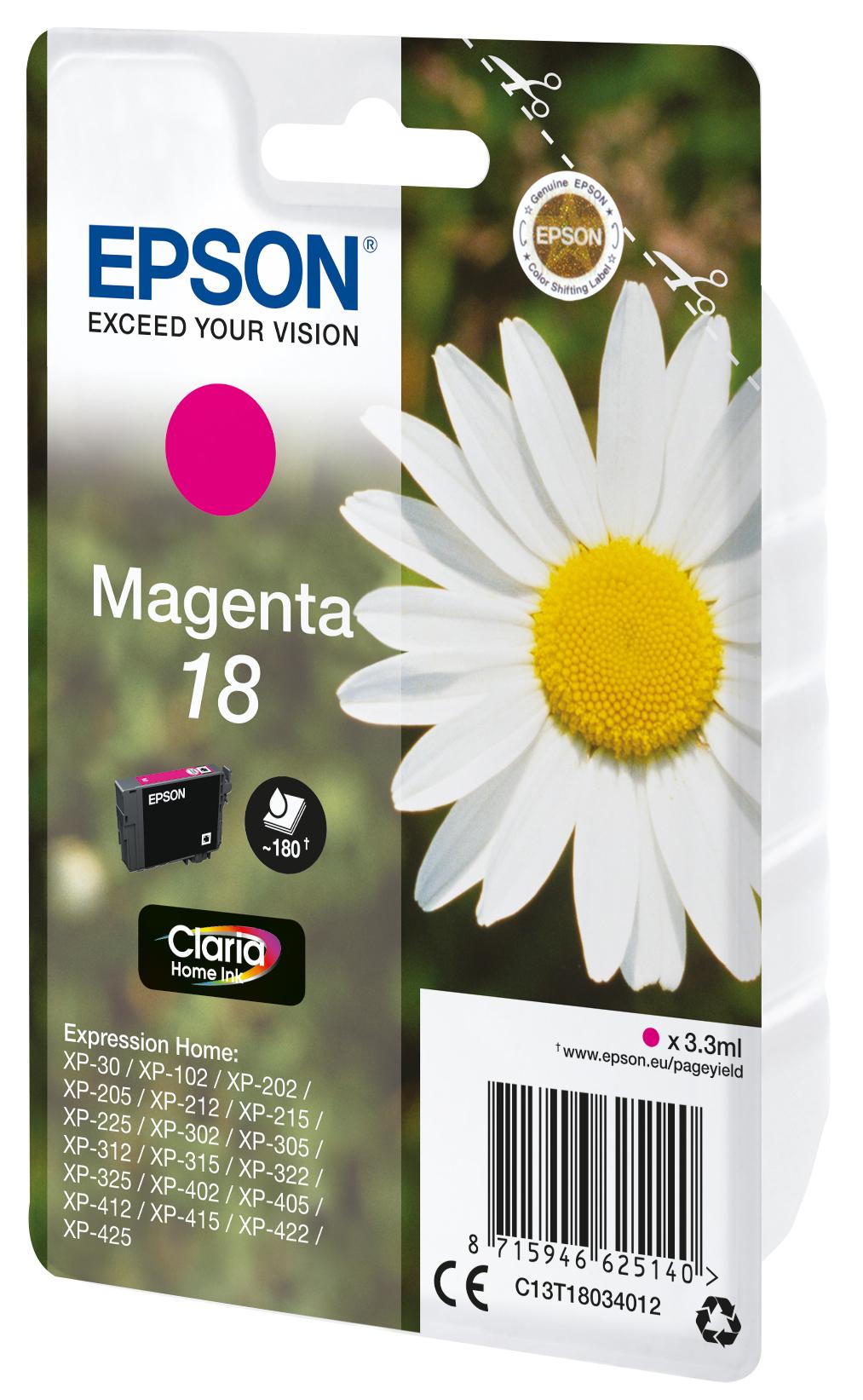 T1803 inkjetcartridge magenta (180 afdrukken)