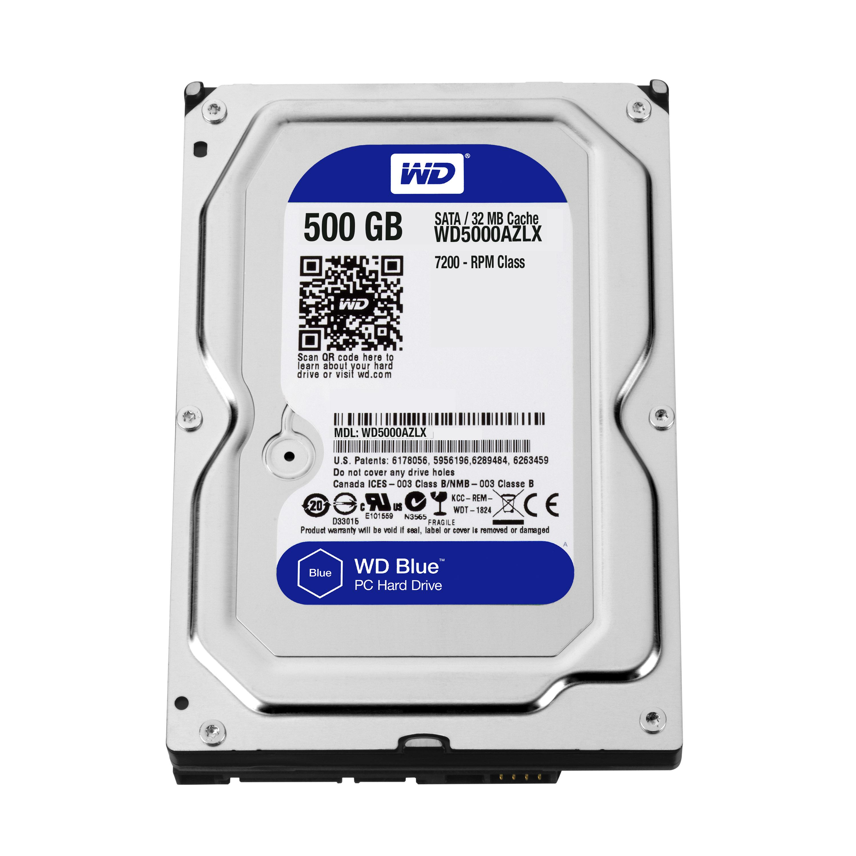 500 GB WD Blue WD5000AZLX (SATA 6 Gb/s, 7200 rpm, 32 MB cache)