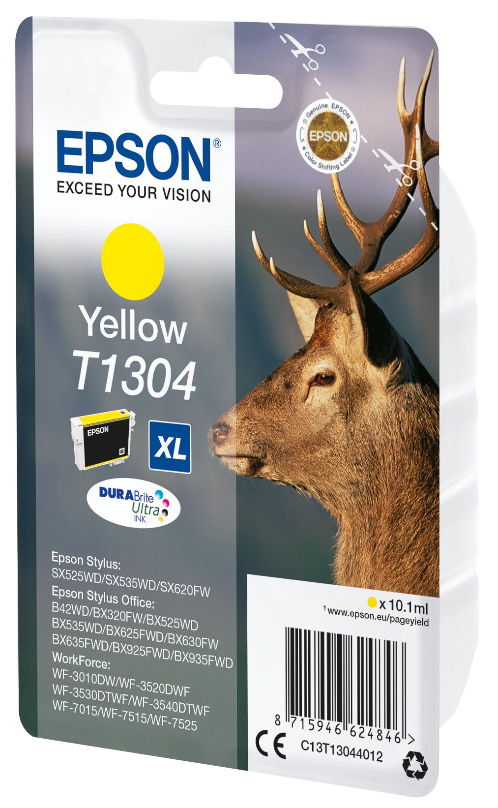 T1304 inkjetcartridge geel (765 afdrukken)