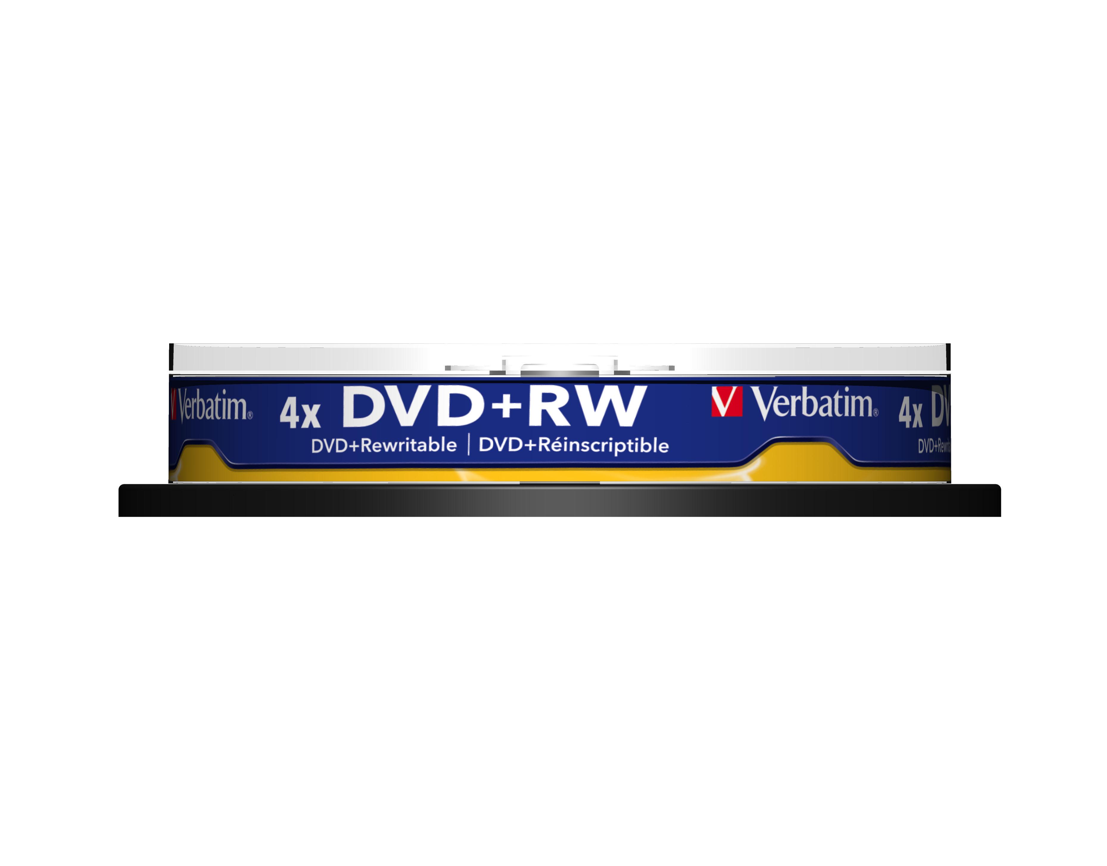 DVD+RW 4,7 GB 4 speed (Advanded SERL, 10-spindel)