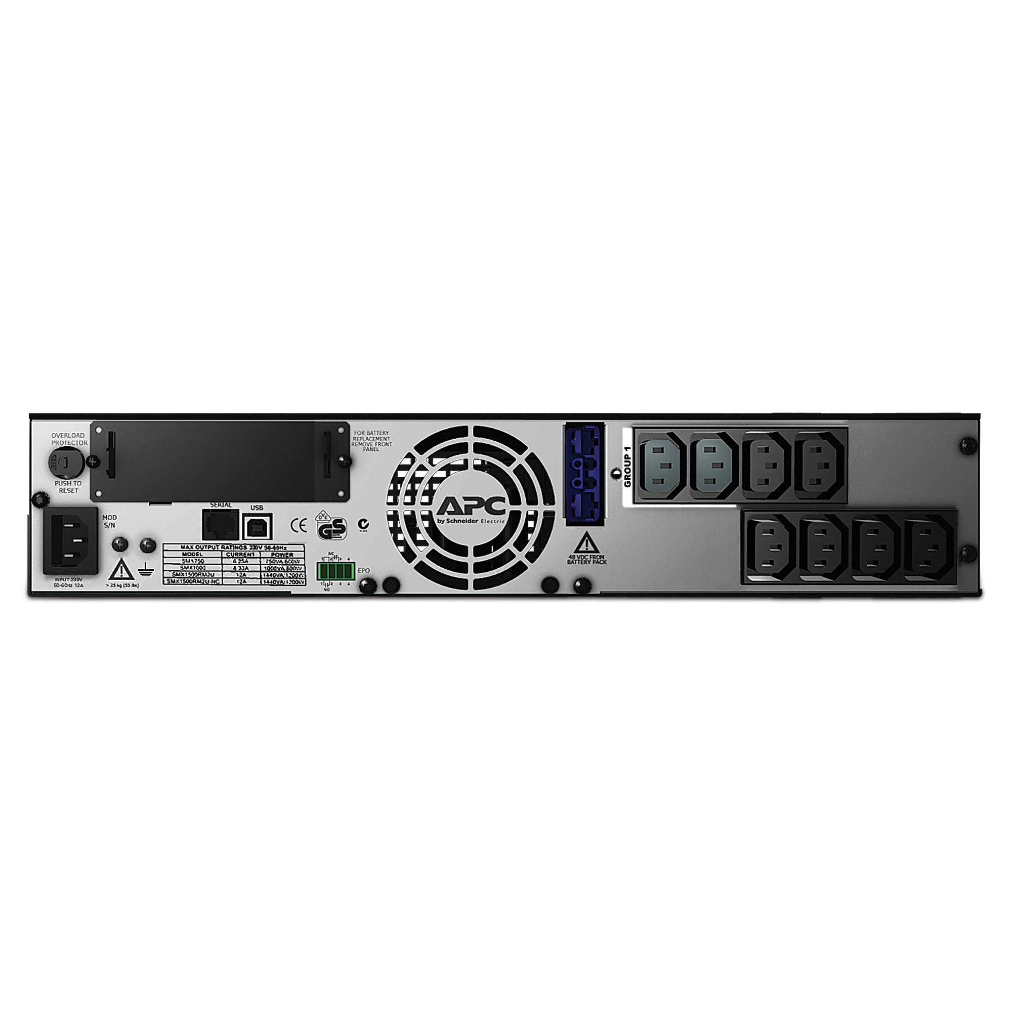 SMX750I Smart-UPS X (750 VA, Rack/Tower, LCD, rack-mountable, 600 Watt, 750 VA, 8 output connectors, 2U)