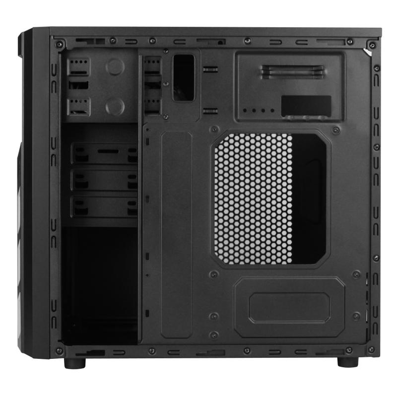VSK3000 Elite Mini tower (micro ATX, zwart, USB, audio)